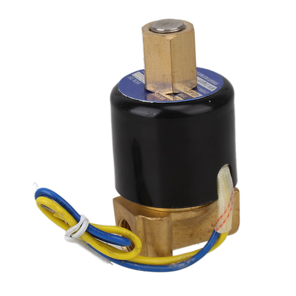 DC 12V 1//4 NBR 2 Way 2 Position Solid Coil Electric Solenoid Valve Gas Water Fuels Air Solid Coil Normally Open Type