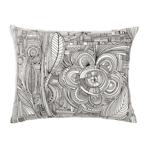 IKEA Eivor - Cojín, blanco / negro - 40x50 cm: Amazon.es: Hogar