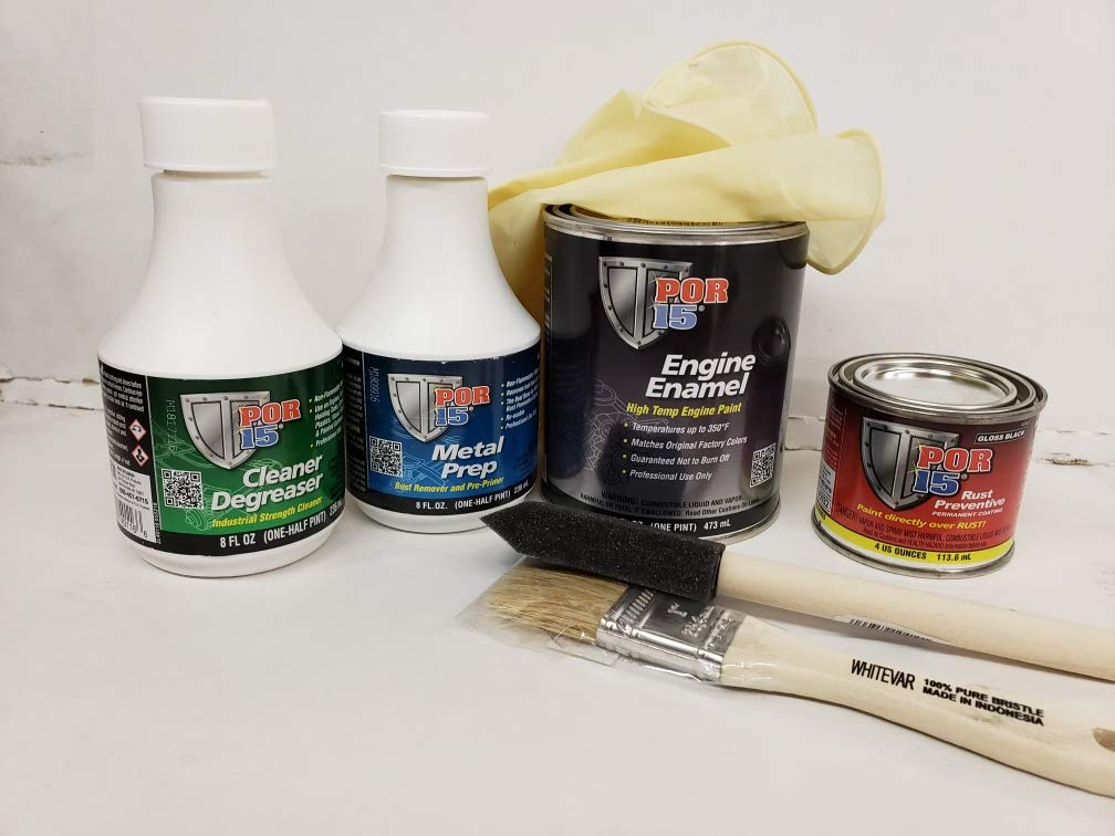 POR-15 Por15 Black Engine Painting Kit