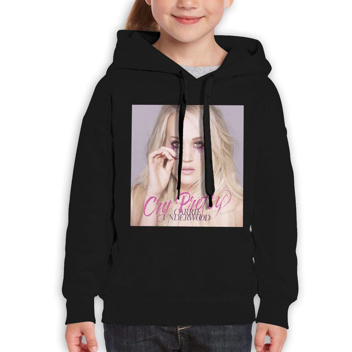 Guiping Cry Pretty Teen Hooded Sweate Sweatshirt Black