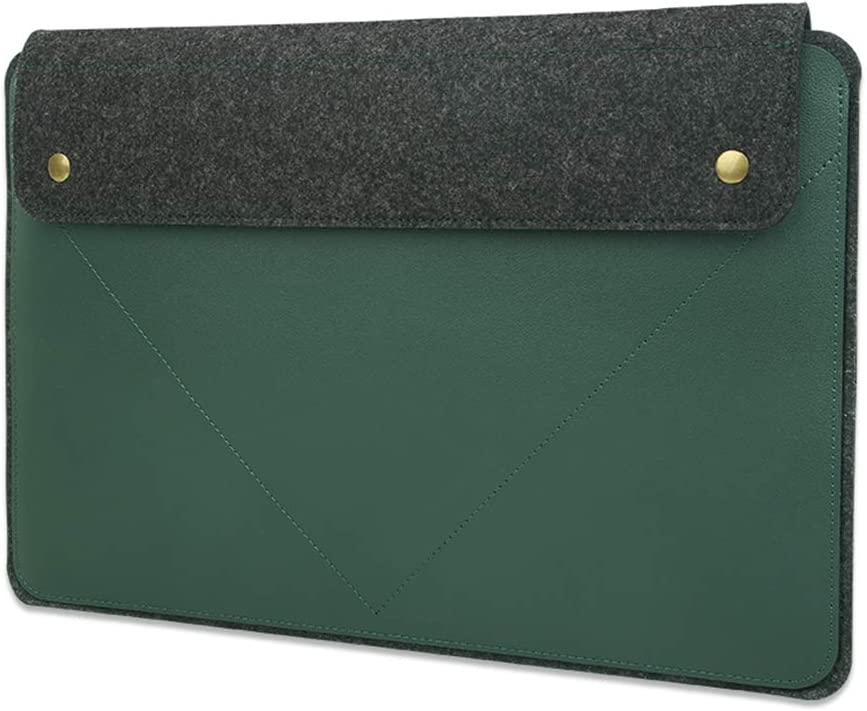Soyan 15-Inch Laptop Sleeve Compatible with New 16-Inch MacBook Pro 2019 and 15-Inch MacBook Pro 2013-2019 (Green)