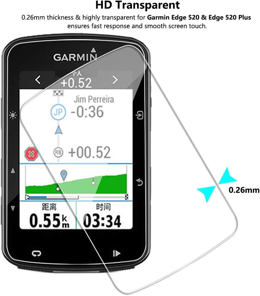 Lusee 3 Piezas Protector de Pantalla para Garmin Edge 520 y Garmin ...