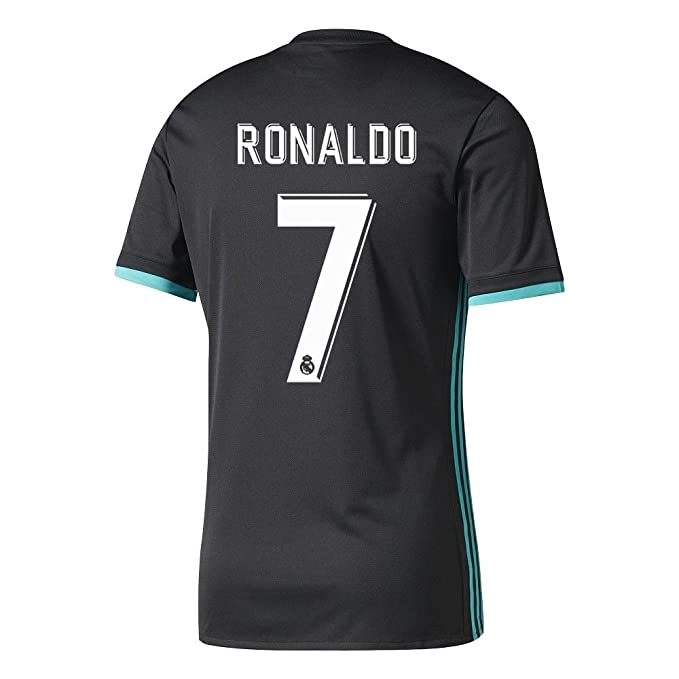 7 Ronaldo Real Madrid Home Kid Soccer Jersey   Matching Shorts Set (2018  Black 46838b6c0