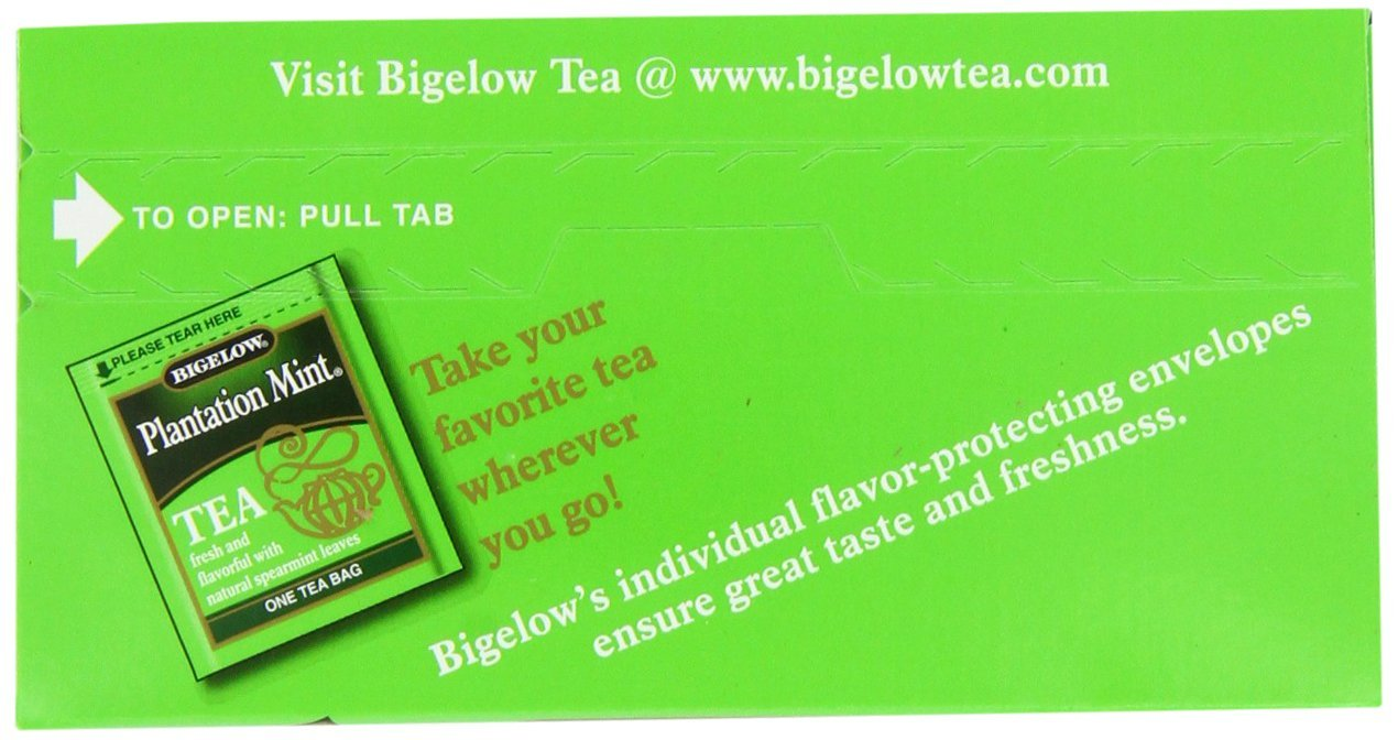 Bigelow Plantation Mint Tea, 20-Count Boxes (Pack of 24) by Bigelow Tea (Image #5)