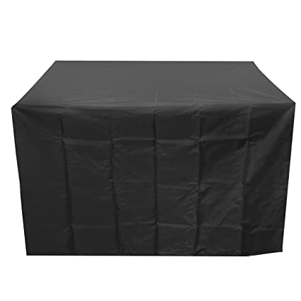 Garden Furniture Waterproof Rectangular Cover Black Protect Chairs Table Set