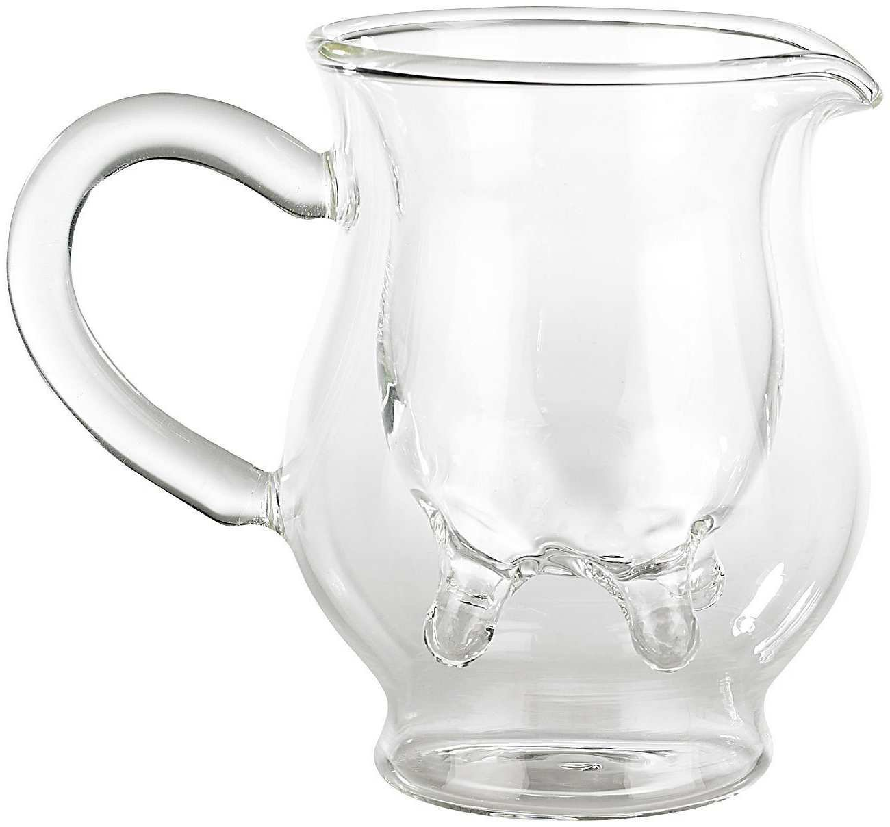 Double Wall Glass Milk Jug Cream Pitcher Creamer Clear Cup Thermal Insulation