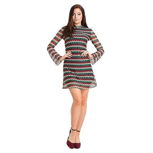 Abito Edie 60s Stripe Voodoo Vixen (Multicolore) - X-Large