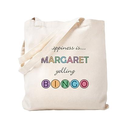 dcb0ca6e17c4 Amazon.com: CafePress - Margaret BINGO - Natural Canvas Tote Bag ...