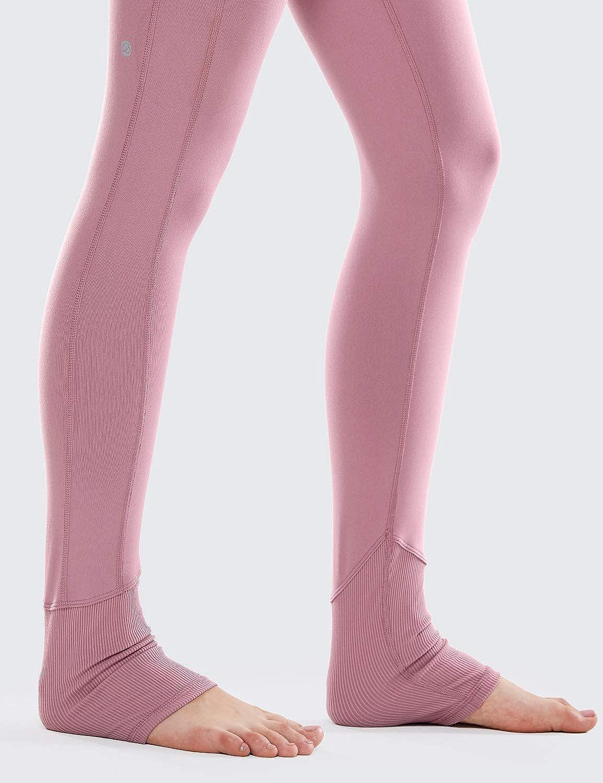 CRZ YOGA Donna Yoga Fitness Pantaloni Sportivi Vita Alta Leggings con Tasca-73cm