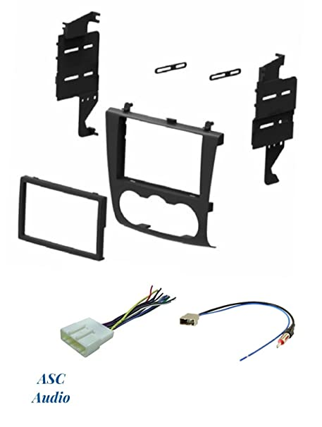 ASC Audio Car Stereo Install Dash Kit, Wire Harness, and Antenna Adapter on