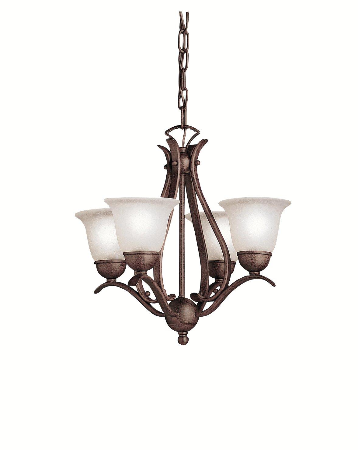 Kichler 2019ni dover mini chandelier 4 light brushed nickel kichler 2019ni dover mini chandelier 4 light brushed nickel dining room light fixtures amazon aloadofball Choice Image