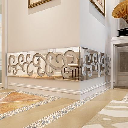 Modern 5pcs 3D Wallpaper Border Acrylic Wall Ceiling Kitchen ...