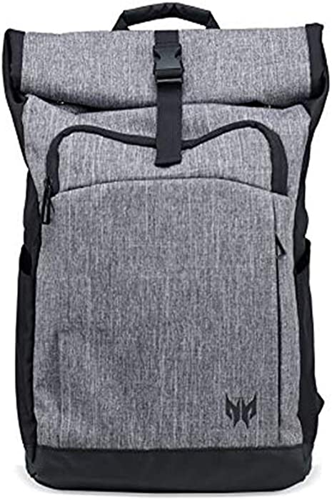 "Acer Predator Rolltop Jr. Backpack - For All 15.6"" Gaming Laptops, Travel backpack, Organized Pockets for All Gear"