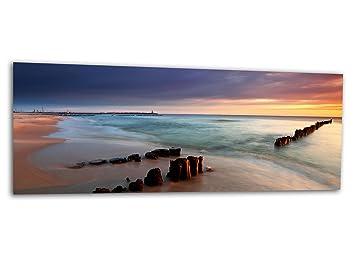 KD Dsign+ XXL Glasbild AG312500452 MURAL SANDSTRAND MEER 125 x 50 cm ...