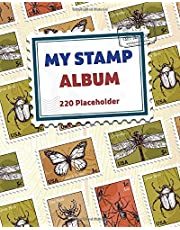 My Stamp Album - 220 Placeholder: For Collectors, Kids And Adults, Large Vintage Stamp Stockbook - White Paper