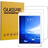 [2 Pack] KIQ Premium Tempered Glass Screen Protector for Apple iPad 9.7 (2018) (6th Gen) [Real Glass, 9H Hardness, Anti-Scratch, Bubble-Free, Self-Adhering, Easy Installation, 0.30mm Thickness]