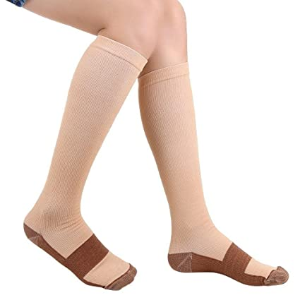9803da2342 Compression Socks - Antimicrobial Reduce Swelling - Ideal for Everyday Use,  Fit for Running,