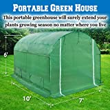 BenefitUSA Hot Green House 10'x7'x6' Larger Walk In Outdoor Plant Gardening Greenhouse