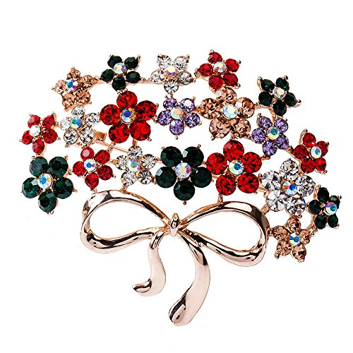 Marquise Vintage Brooch - Mwfus Unisex Vintage Flowers Marquise Crystal Christmas Brooch Pin Gold Plated