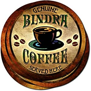 Bindra Coffee Neoprene Rubber Drink Coasters - Set of 4