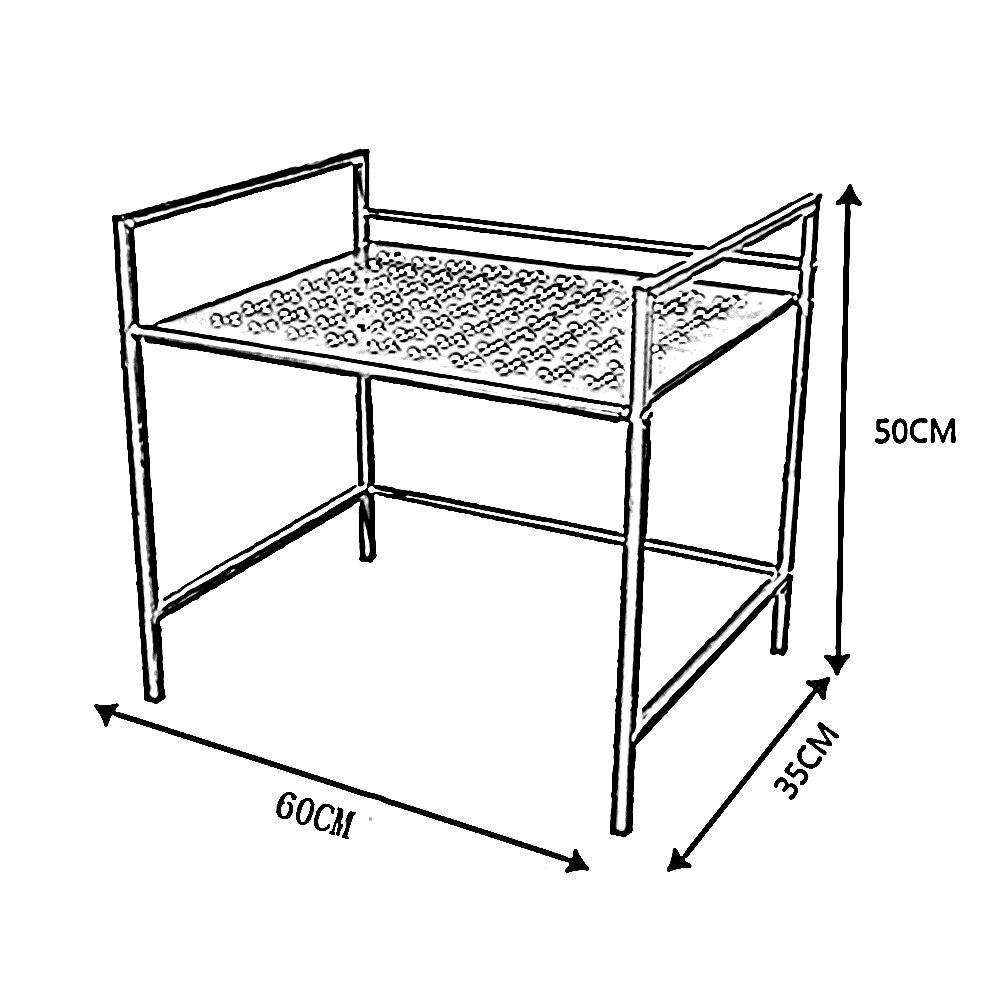 Microwave Oven Rack Storage Shelves Kitchen Seasoning Rack 3 Colors, 3 by WT Storage racks (Image #2)