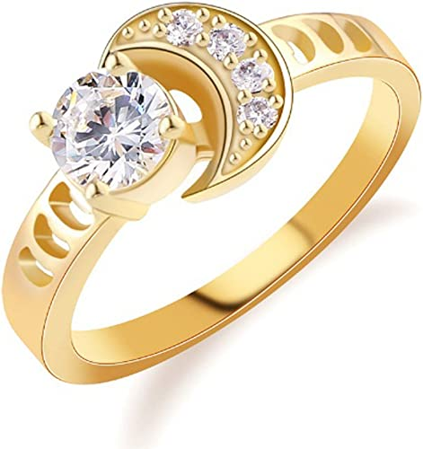 T/&T ring Fashion Gold Plated Ring For Women Luxury White Jewelry Wedding Rings T/&T