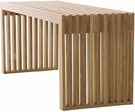 Panca D-Stil 150 cm Panca da Giardino Moderna 10103 con Seduta in Metallo Ferro Panca Fiori
