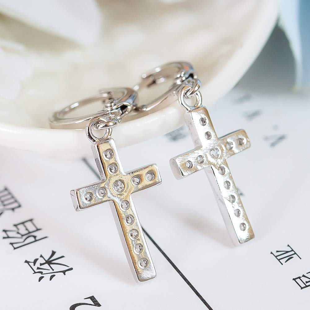 Fashion Jewelry Gifts for Christmas Valentine/'s Day Birthday Anniversary DHMK Stainless Steel Cross Dangle Hinged Hoop Earrings Piercing for Men Women Girls