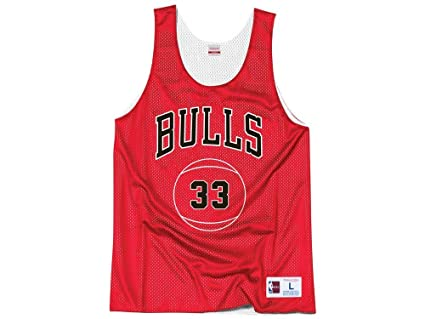 bfc7c7c6dba1c Mitchell   Ness Chicago Bulls Scottie Pippen Name Number Reversible Mesh  Tank Top (Small