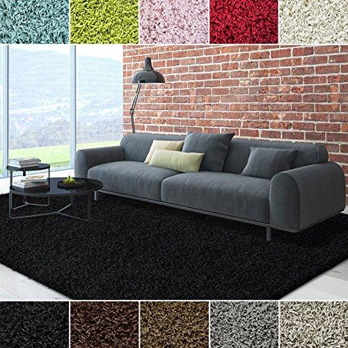 10 Square Black Rug (iCustomRug Cozy Soft And Plush Pile, 10ft x 10ft ( 10X10 ) Square Shag Area Rug In Black)