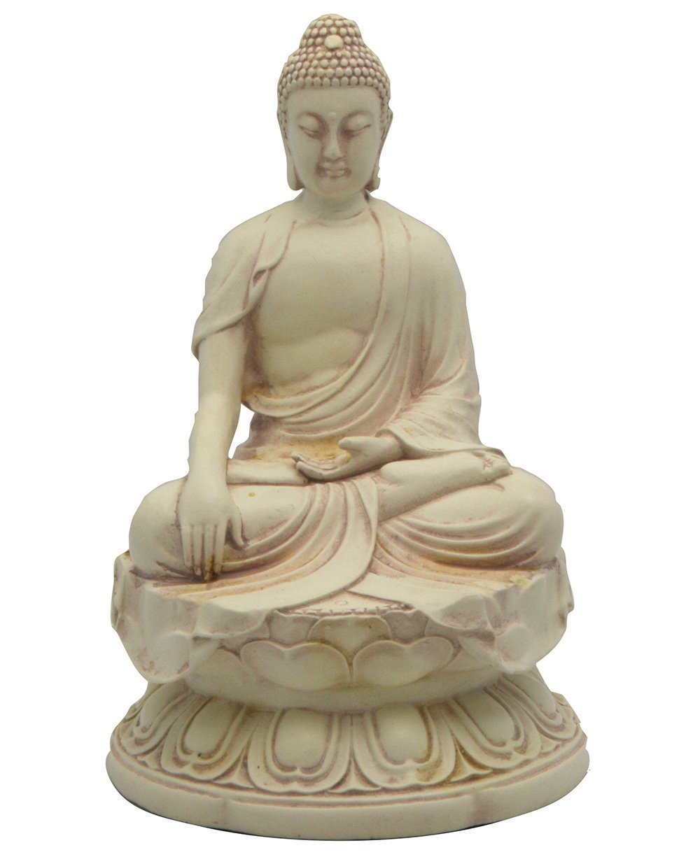 Buddha Statue In Earth Touching Pose, 6.5 Inches