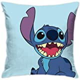 Pillow Cover Cushion Cover Lilo and Stitch Decorative Pillow Case Sofa Seat Car Pillowcase Soft 18x18 Inch