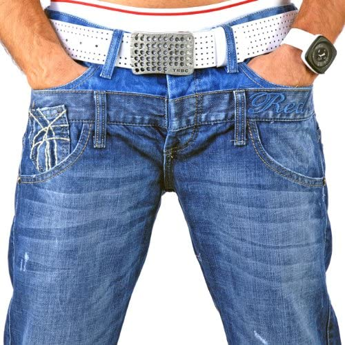 Redbridge Jeanshose Herren Männer Hose Jeanshosen RB-145 Doppelbund Jeans Blau