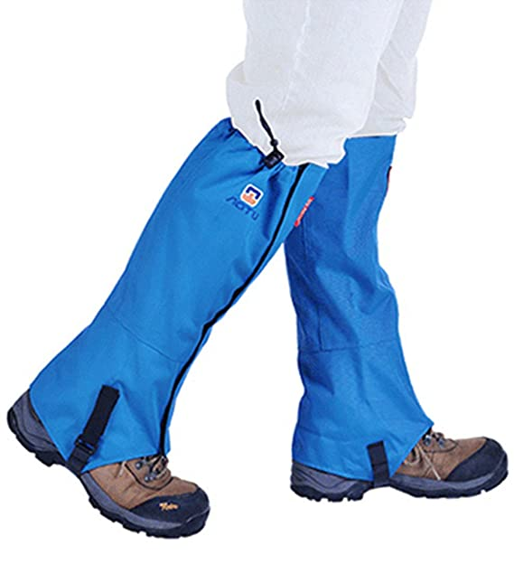 IPOTCH 3 Pairs Waterproof Breathable Hiking Walking Climbing Low Ankle Gaiters Leggings Cover Hook and Loop Front Closure