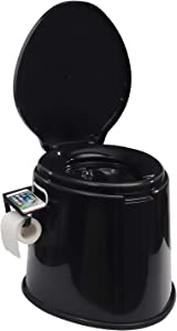 TOOCA Portable Camping Toilet Composting Potty Lugable Loo for Kids Adults Campers Bucket Toilet Seat with Removable Cellphone&Toilet Paper Holder,2 Kinds Buckets for Camping RV,Car,Travel,Home
