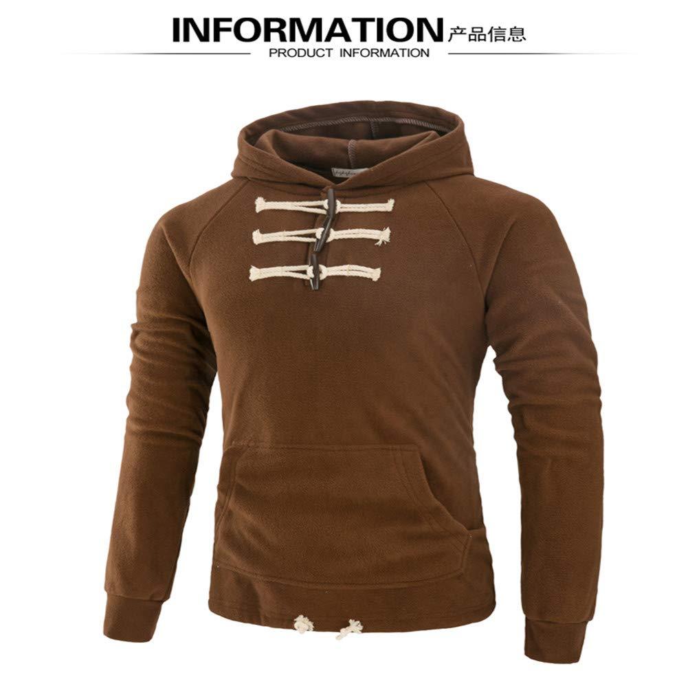 Männer Hoodie - Weich Und Warm Slim Casual Wear,Braun,XL