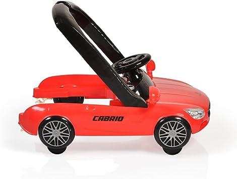 Cangaroo marchette pour b/éb/é Cabrio 2 in1 design de voiture r/églable en hauteur Farbe:rouge