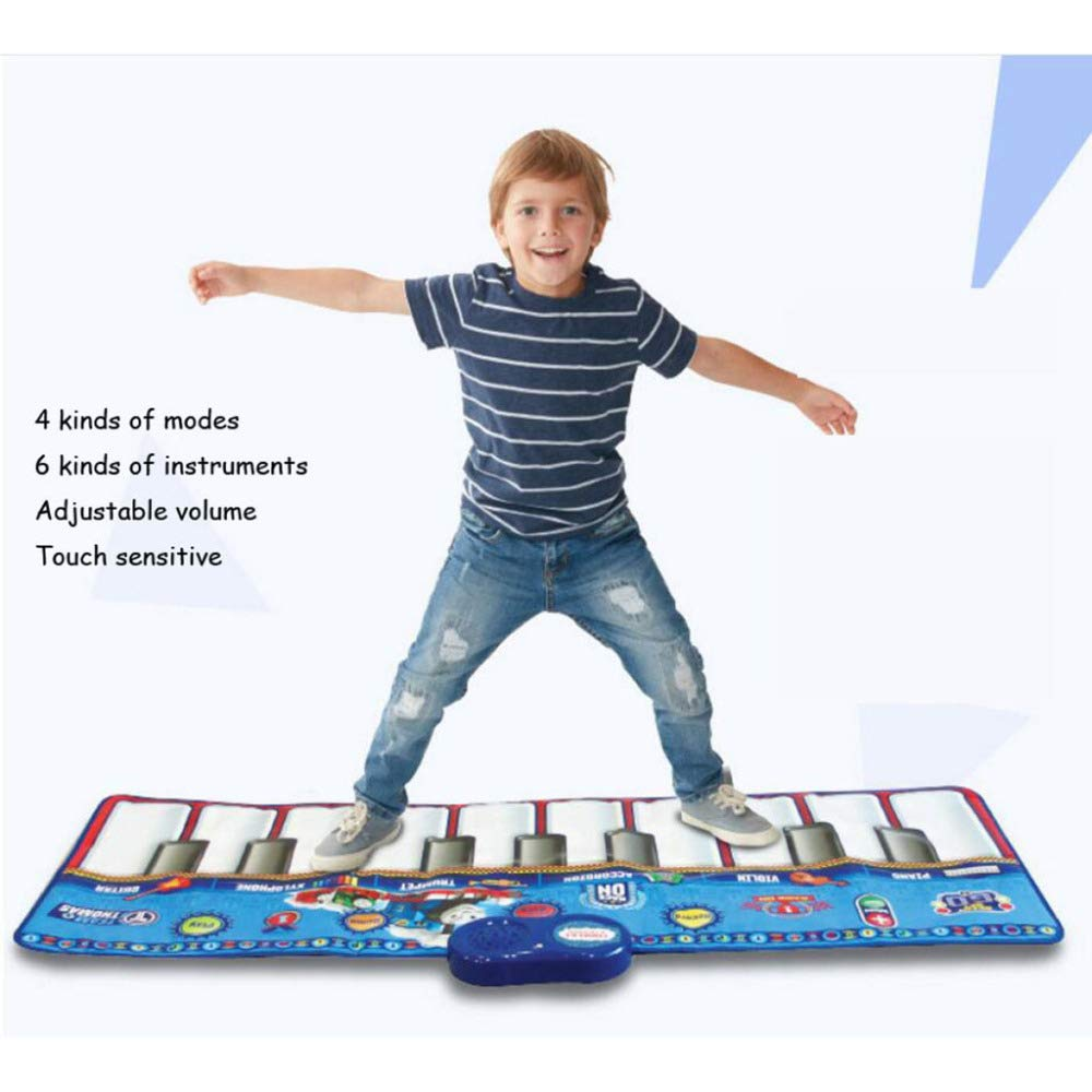 QXMEI Dance Blanket Children's Dance Blanket Mini Foot Piano Rug Children's Musical Instrument Nontoxic Footprint Piano Music Game Blanket Product Size: 47.2inchs 18.1inchs by QXMEI (Image #4)