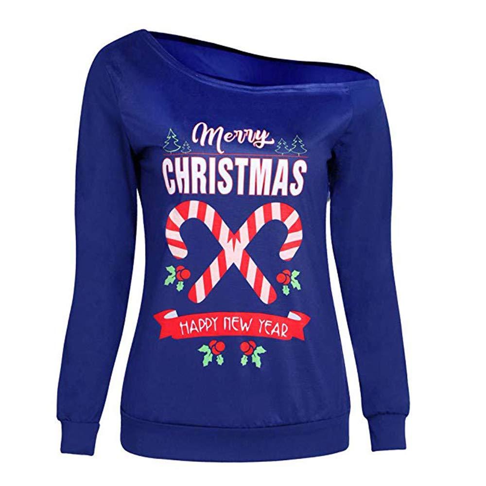 Pullover & Strickjacken QSEVEN Frohe Weihnachten Sweatshirt Jumper Ugly Unisex Weihnachten Weihnachtsmann Elch Muster Frauen Pullover Langarm Männer Paar Trainingsanzüge Gestrickte Top