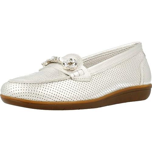 Mocasines para Mujer, Color Plateado, Marca 24 HORAS, Modelo Mocasines para Mujer 24 HORAS 23215 Plateado: Amazon.es: Zapatos y complementos