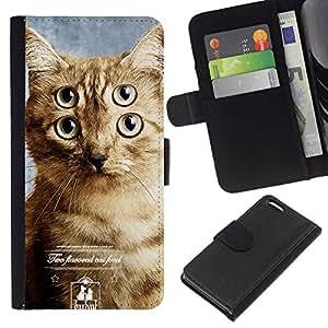 All Phone Most Case / Oferta Especial Cáscara Funda de cuero Monedero Cubierta de proteccion Caso / Wallet Case for Apple Iphone 5C // Commercial Clever Cat Feline Mutant Hero