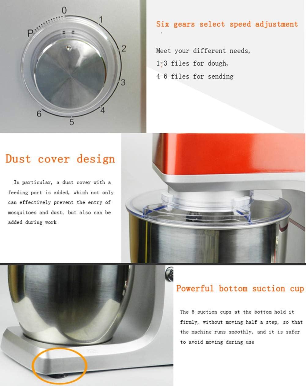 HOSUAI 1200W Batidora Amasadoras Repostería Profesional, Robot De Cocina Automática Multifuncional Amasadoras De Pan Capacidad de 7 litros,6 velocidades 110v: Amazon.es: Deportes y aire libre