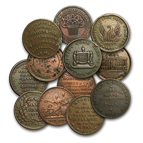 1832 -1844 Copper Hard Times Tokens Avg Circ/VF (Random) Collection Very Good