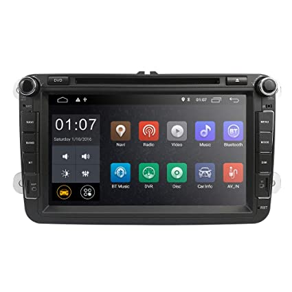 hizpo Android 8.1 Car Radio for VW Volkswagen Passat T5 Golf MK5 Jetta GTI Polo EOS Skoda 8 Inch Car Stereo DVD Player GPS Navi Radio Camera ...