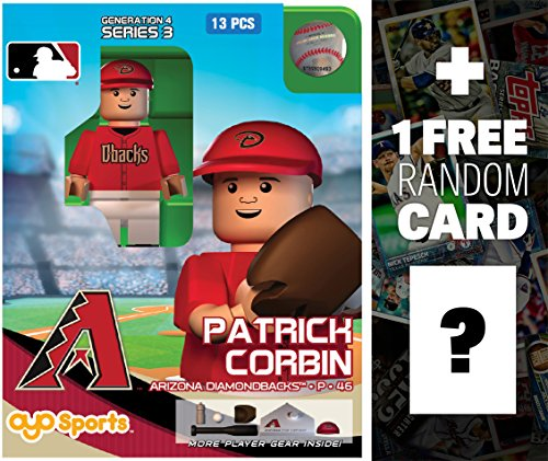 MLB Patrick Corbin - Arizona Diamondbacks x OYO Sportstoys Minifigure G4 Series 3 + 1 Free Official Trading Card Bundle [16665] ()