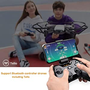 Wireless Gamepad Controller, Megadream iOS MFi Gaming Joystick with Clamp Holder for iPhone Xs, XR X, 8 Plus, 8, 7 Plus, 7 6S 6 5S 5, iPad, iPad Pro Air Mini, Apple TV - Direct Play (Color: Black)