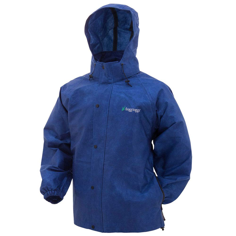Frogg Toggs Pro Action Rain Jacket, Royal Blue, Size Small