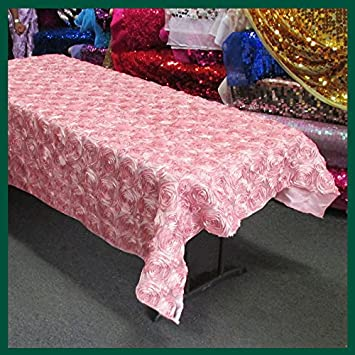 Charmant Amazon.com: Newstar Tablecloth Rose/Rosette / Flower/Floral Satin Rectangle  55 X 108 Inches   Dusty Rose Pink: Home U0026 Kitchen