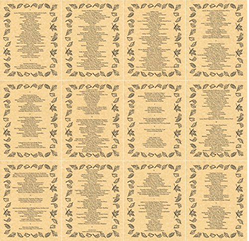 Set of 13 Book of Shadows Pages on Herbalism, Wicca, Witchcraft, like  Charmed (Gold)