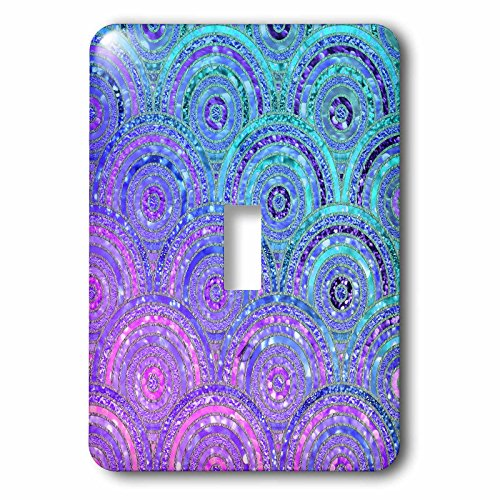 3dRose (LSP_268936_1 Single Toggle Switch Trendy Teal Purple